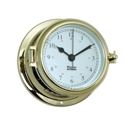 Weems & Plath Endurance II 115 Brass Quartz SHIP'S BELL Clock